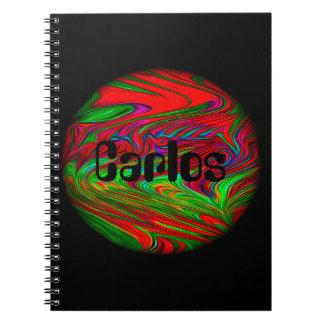Alien-Planeten-personalisiertes Namensnotizbuch Spiral Notizblock