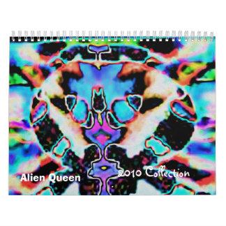 Alien-seltene Kunstsammlung Wandkalender