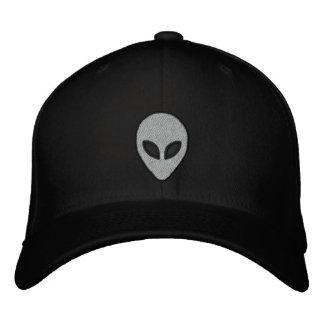 Alienköpfe stickten Hut (Front und Rückseite)