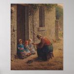 Alimentation des jeunes, 1850 poster