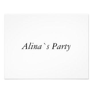 Alina Einladungskarte
