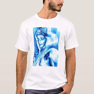 Alisha Hut-metallisches Eis T-Shirt