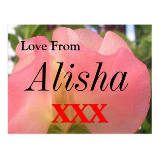 Alisha Postkarte