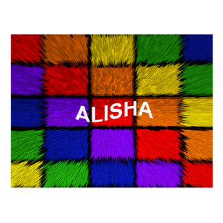 ALISHA (weibliche Namen) Postkarte