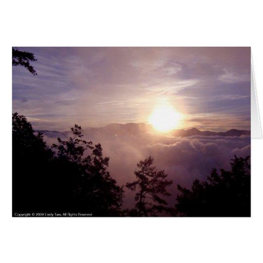 Alishan Sonnenaufgang Karte