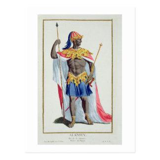 Alkmey, König der Guinea von 'Receuil DES Postkarte