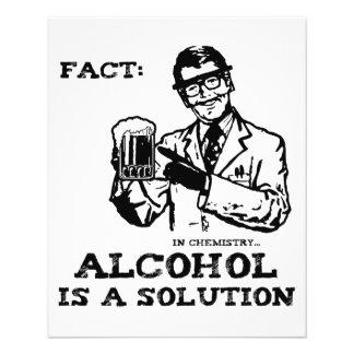 Alkohol ist eine Lösung in der Retro Chemie 11,4 X 14,2 Cm Flyer