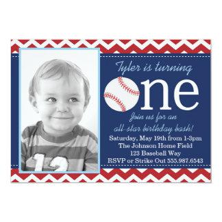 All-Star- Baseball-Geburtstags-Schlag-Einladung 12,7 X 17,8 Cm Einladungskarte
