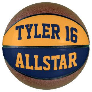 All-Star- blaues Gold Basketball