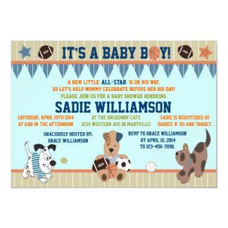 All-Star- Welpen-Baby-Duschen-Einladung Karte