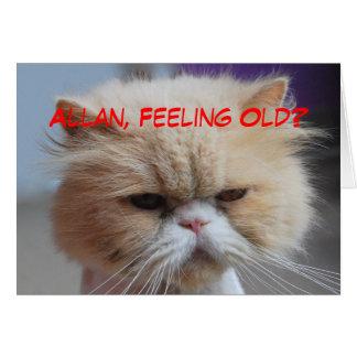 Allan-Bruder-Geburtstags-persische Katzen-Spaß Grußkarte
