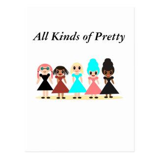 Alle Arten von hübschem Postkarte