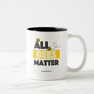 Alle Bienen-Angelegenheit - Hashtag retten die Zweifarbige Tasse