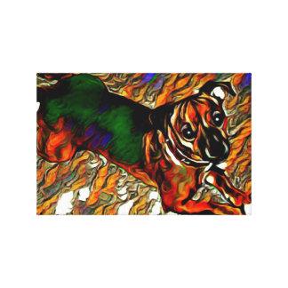 Alle bräunen funky Kunst Jack-Russell-Terriers Leinwanddruck