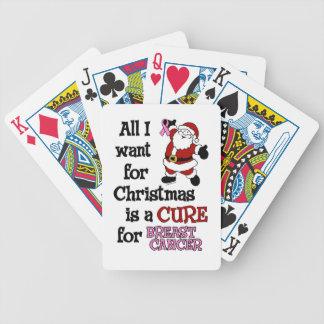 Alle, die ich für Weihnachts… Brustkrebs will Bicycle Spielkarten