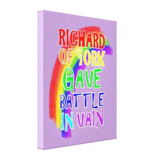 Alle Farben des Regenbogen-Spaß-Text-Sprichworts Leinwanddruck