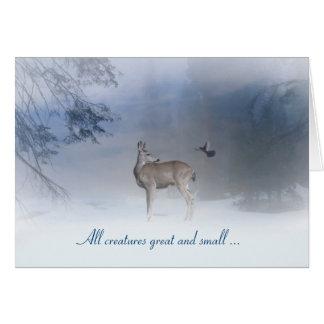 Alle Geschöpfe groß und kleine Weihnachtskarte Karte