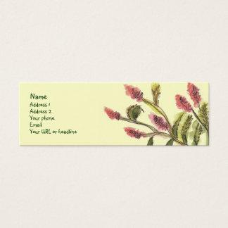 Alle gute Blumenkarte Mini Visitenkarte