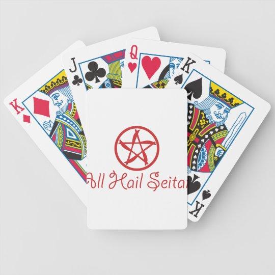 Alle hageln Seitan - lustigen unglaublich witzig Bicycle Spielkarten