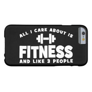 Alle i-Sorgfalt ist ungefähr Fitness - lustige Barely There iPhone 6 Hülle