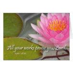 Alle Ihre Arbeiten preisen Sie, Lord. Psalm 145 Grußkarten