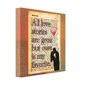 Alle Liebegeschichten -- Leinwand-Kunst-Druck Leinwanddruck