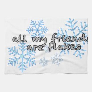 Alle meine Freunde sind Flocken Handtuch
