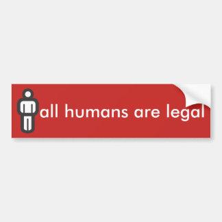 alle Menschen sind legal Autoaufkleber