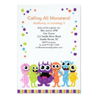 Alle Monster anrufen Kindergeburtstag-Einladung 12,7 X 17,8 Cm Einladungskarte