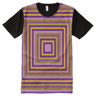 Alle quadrieren Mehrfarben T-Shirt Mit Bedruckbarer Vorderseite
