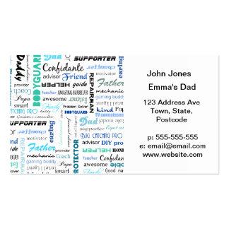 Alle Sachen ein Vati ist zu mir Typografie Visitenkarte