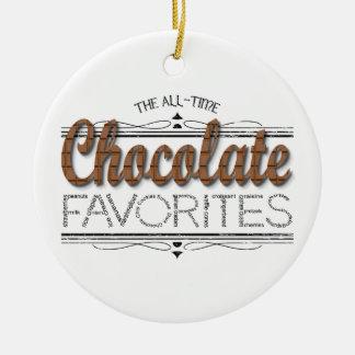 Alle Schokoladen-Lieblinge Keramik Ornament
