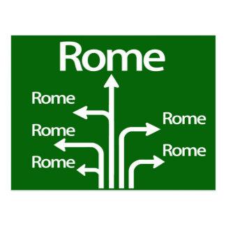 Alle Straßen führen zu Rom Postkarte