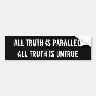 Alle Wahrheit ist Ähnlichkeit, alle Wahrheit ist Autoaufkleber