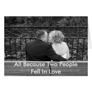 Alle, weil zwei Leute in Liebe fielen Karte