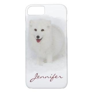 Alle weiße arktischer Fox-Aquarell-Malerei iPhone 7 Hülle