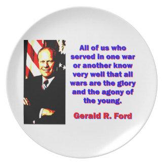 Alle wir, die dienten - Gerald Ford Melaminteller