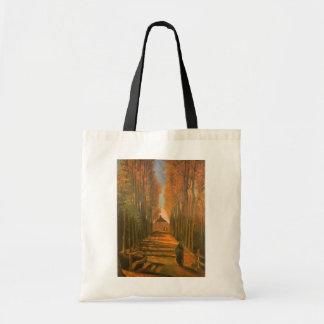 Allee der Pappeln im Herbst durch Vincent van Gogh Tragetasche