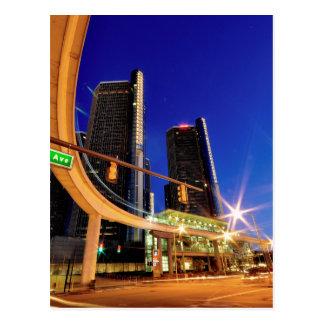 Allee Detroits Michigan Jefferson Postkarte