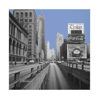Alleen-Straßen-Szene 1967 Chicagos Michigan Leinwanddruck