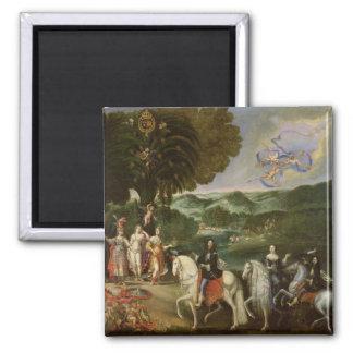 Allégorie du mariage de Louis XIV en 1631 Magnets Pour Réfrigérateur