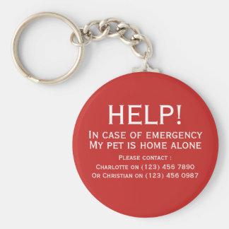Allein Kontakt des Hilfshaustier-Zuhause Schlüsselanhänger