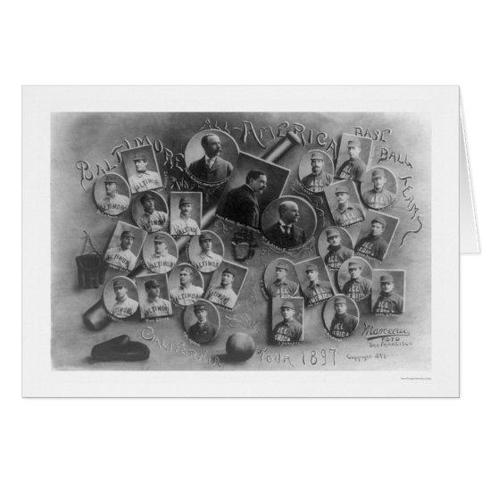 Aller Amerika-Baseball-Ausflug 1897 Grußkarte