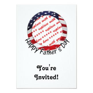 Aller amerikanische der Vatertags-Rahmen Individuelle Ankündigskarten
