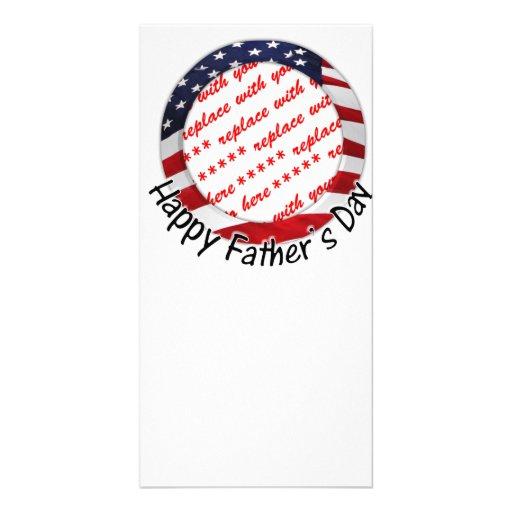 Aller amerikanische der Vatertags-Rahmen Photo Grußkarte