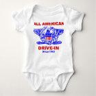 Aller amerikanische HAMBURGER Antrieb in Baby Baby Strampler