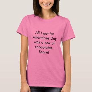 Aller, den ich erhielt, war ein Kasten Schokoladen T-Shirt