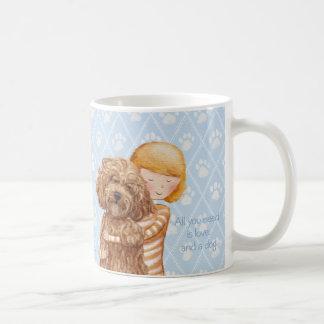 Aller, den Sie benötigen, ist Liebe und ein Hund© Kaffeetasse