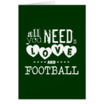 Aller, den Sie benötigen, ist Liebe und Fußball Karten