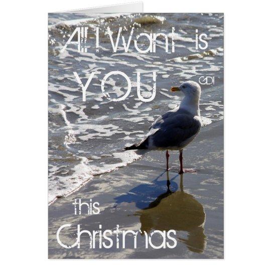 Aller I Want ist SIE dieses Weihnachten Grußkarte